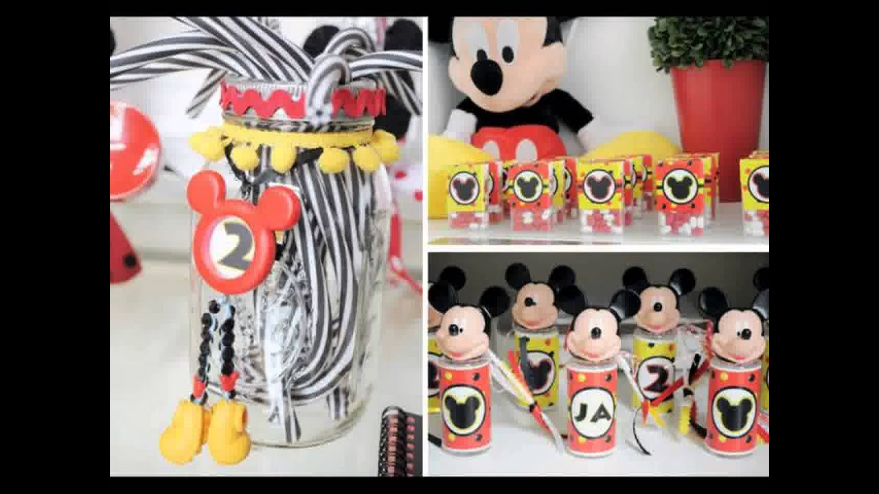 D coration de f te d 39 anniversaire mickey la souris youtube - Decoration mickey anniversaire ...