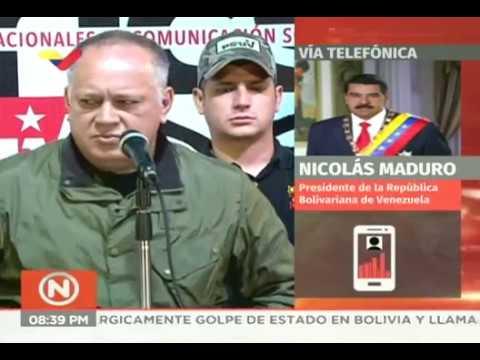 Nicolás Maduro envió mensaje de apoyo a Evo Morales tras consumarse golpe de Estado, 10/11/2019