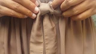 Cara membuat pita di baju, bawahan, gamis, dll