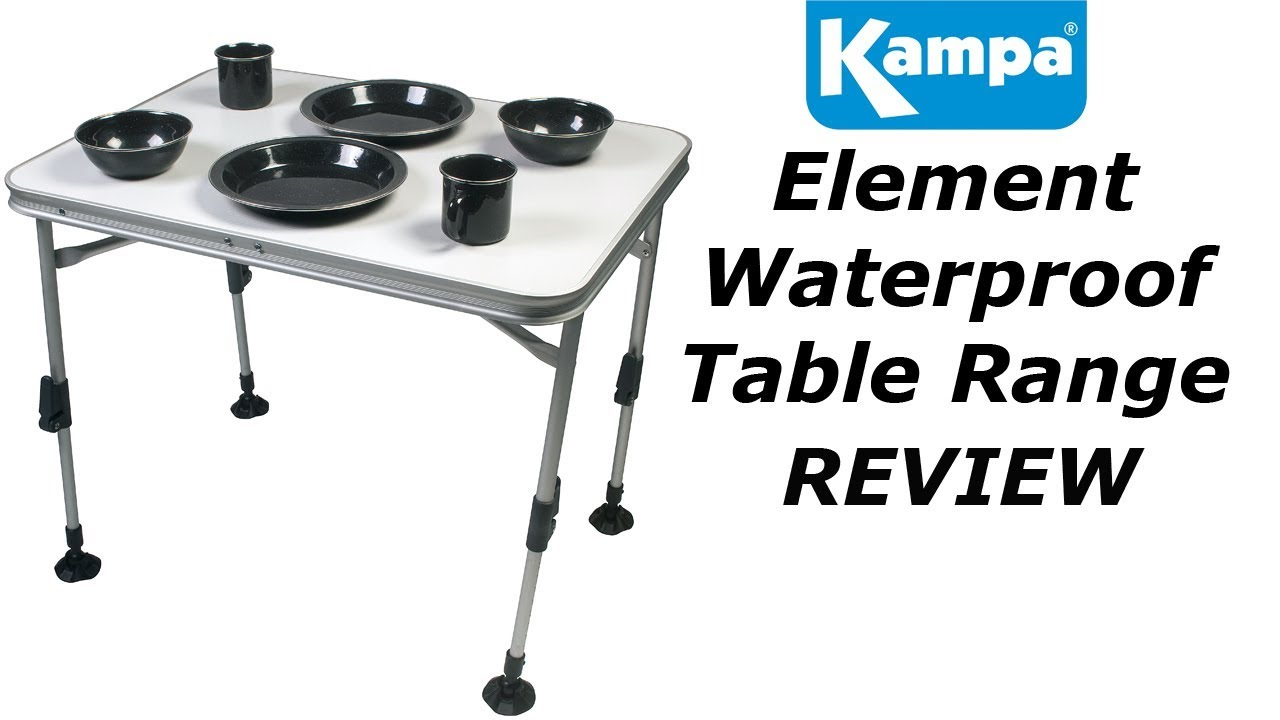 Kampa Element Waterproof Tables - YouTube