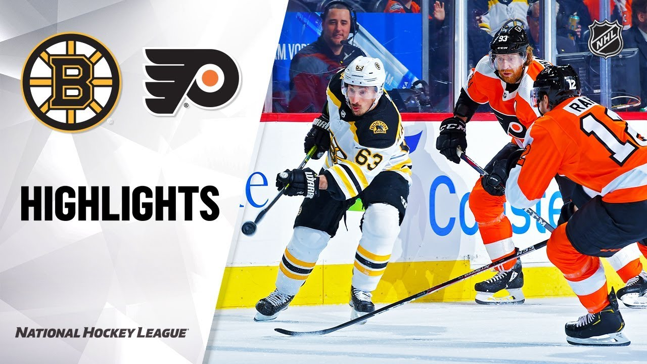 NHL Highlights | Bruins @ Flyers 1/13/20