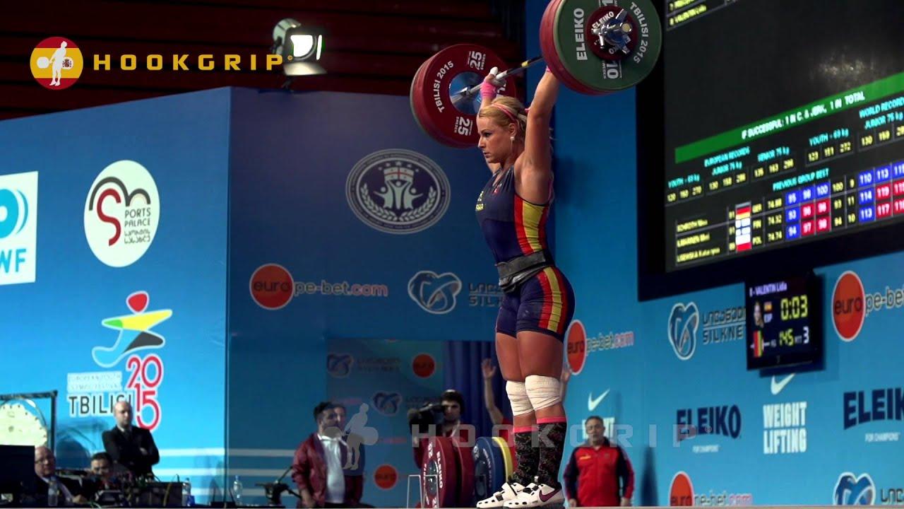 Lydia Valentin (75, Spain)   118kg Snatch / 145kg Clean U0026 Jerk   YouTube