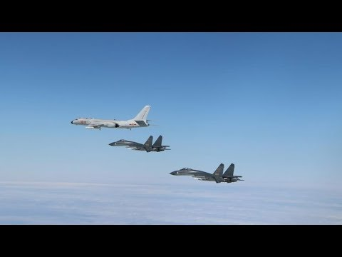 China's air force fleet crosses the Tsushima Strait