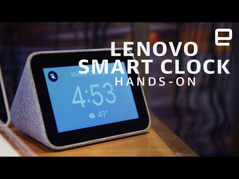 Lenovo Smart Clock Hands-On: Compact and Useful at CES 2019