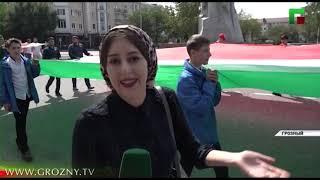В Грозном День Чеченской Республики отметили массовым шествием
