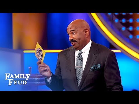 OMG! Funny clip! Steve Harvey speaks Italian! | Family Feud