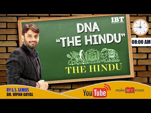 DNA-THE HINDU LIVE SHOW ||  16 - 22 Sep ||  Every Saturday 8-9 AM || Dr Vipan Goyal