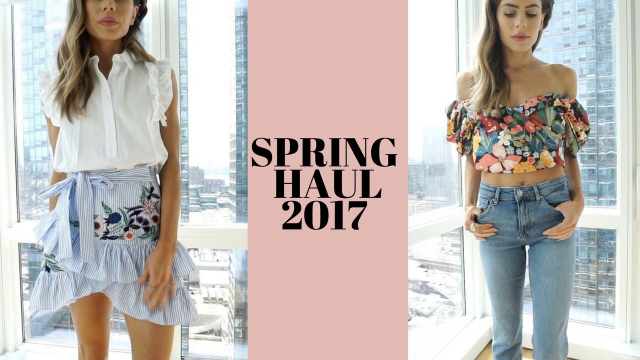 Spring 2017 Haul Try On Wedding Prom Music Festival Outfits Lulus River Island Top Zara