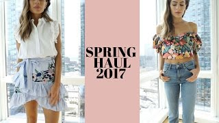 Spring 2017 Haul +TRY ON (Wedding | Prom | Music Festival Outfits) Lulus, River Island, Topshop,Zara