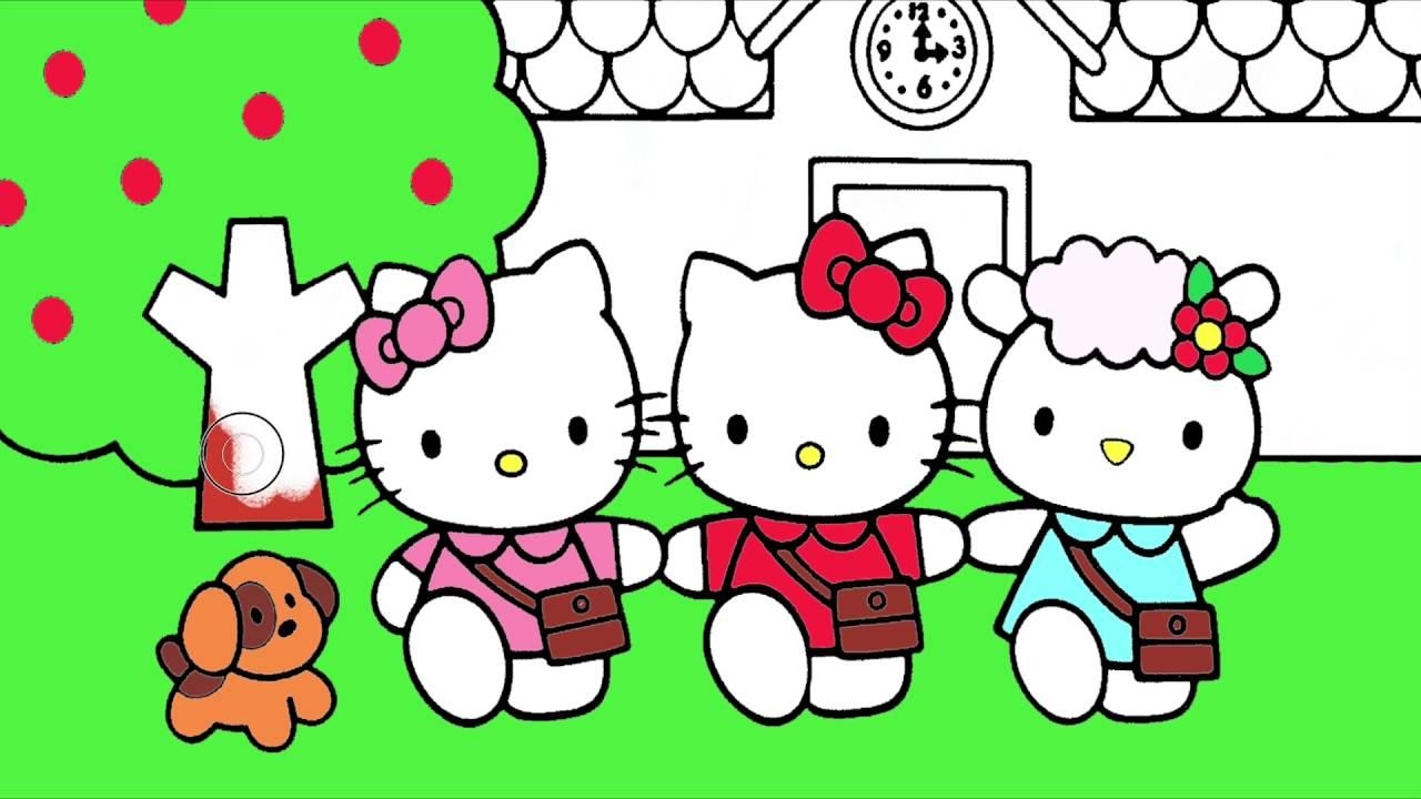 Hello Kitty çizgi Film Karakter Boyama 2 Minik Eller Boyama Kitabı