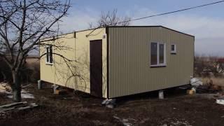 Дачный дом для комфортного проживания 6х7,2м