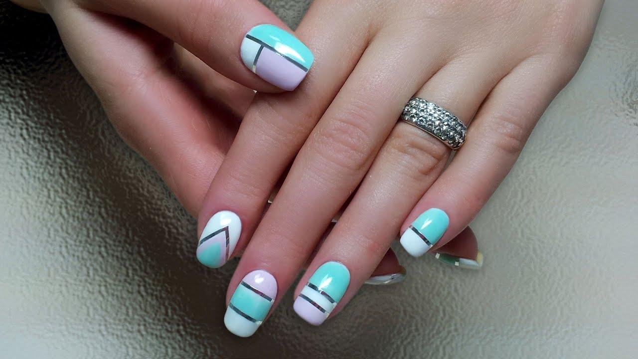 Гель шеллак дизайн ногтей