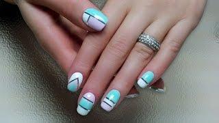 Дизайн ногтей гель-лак shellac - Декоративная нить (видео уроки дизайна ногтей)