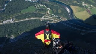 Russian Base Jumpers Compete In Adrenaline Fuelled Wingsuit Race