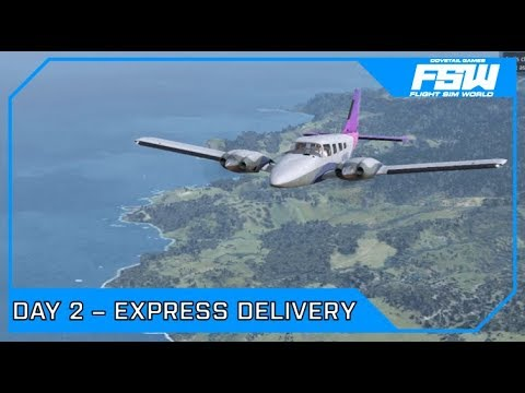 Drawyah plays Flight Sim World - Day 2 Express Delivery|Episode 2
