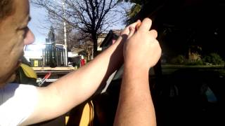 Mini Cooper Left A-pillar Moulding Removal - Trim Cover - (drivers side)