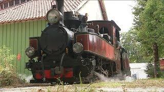 Cours de conduite sur locomotive à vapeur à Rillé (Indre-et-Loire)