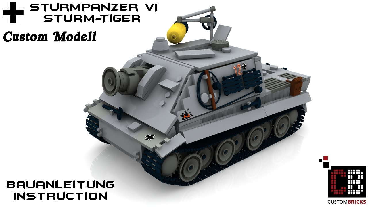 how to make a lego ww2 tiger tank