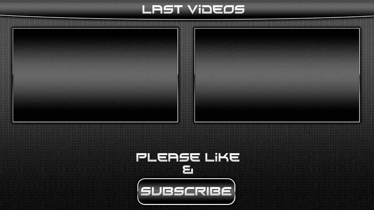 Black outro template video for sony vegas pro 11 for Free outro template