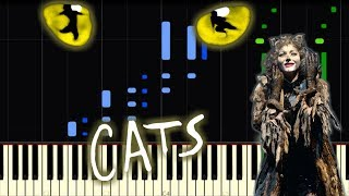 A.L. Webber  CATS MUSICAL-MEMORY |piano cover| Synthesia