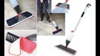 ممسحة التنظيف مع بخاخ لتلميع وتعقيم السيراميك