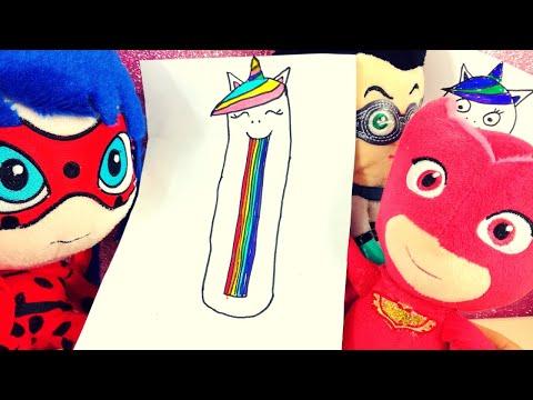 Gufetta e Ladybug disegnano un unicorno! 🦄🌈 Ma arriva Romeo e... [Impariamo a disegnare e colorare]