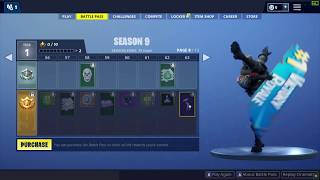 Fortnite Season 9 Battlepass All Cosmetics, Skins, All Levels Free and Paid Path