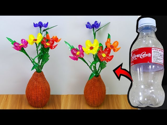 ???? ???? ???? ??? ???? || Plastic Bottle Flower Easy || Room Decoration flower