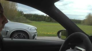 F85 bmw x5m 575 hp vs bmw m3 e90 dkg angle from the bmw m3