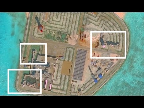 China builds hexagonal structures in the South China Sea