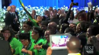 Mandela Funeral Hall Filled With Singing, Dancing