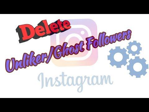 How To Delete/Block  Ghost Followers / Dead Followers / Unliker Followers Instagram || Android ||