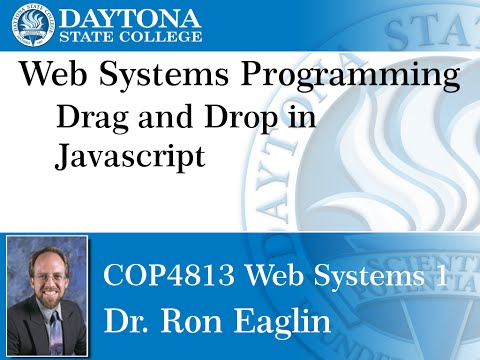 Web Programming - Drag and Drop in Javascript
