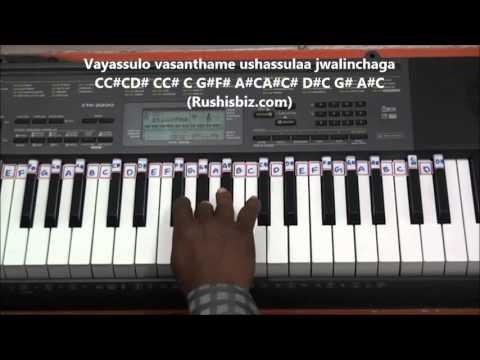 Aamani Paadave Haayiga (Piano Tutorials) - Geethanjali - (Telugu)