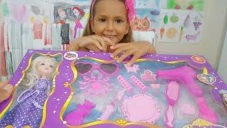 fashion girl bebek prenses makyaj ve güzellik seti açıyoruz, Eğlenceli çocuk videosu, Toys unboxing