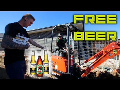 GIVING FREE BEERS TO WORKERS (Episode 1)