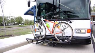 Using the City Bus Bicycle Rack -Columbus Indiana