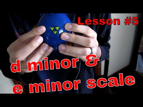 Lesson #5   English Pendant 6 hole Ocarina class! With 6 hole Ocarina songs