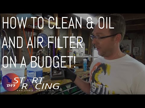 How To Clean & Oil A Dirt Bike Air Filter On A Budget