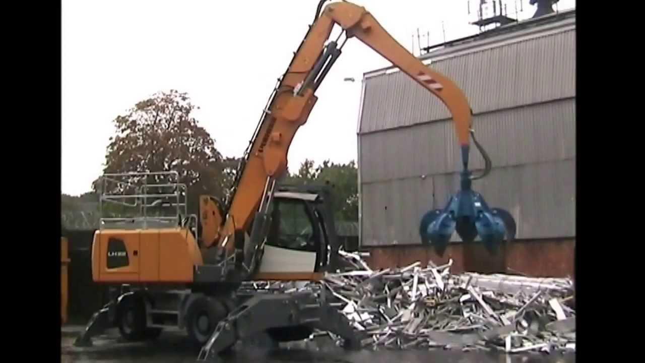 Orange Peel Grapple - Excavator Scrap Grab handling metal waste