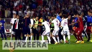 Serbia and Albania clash over flag stunt