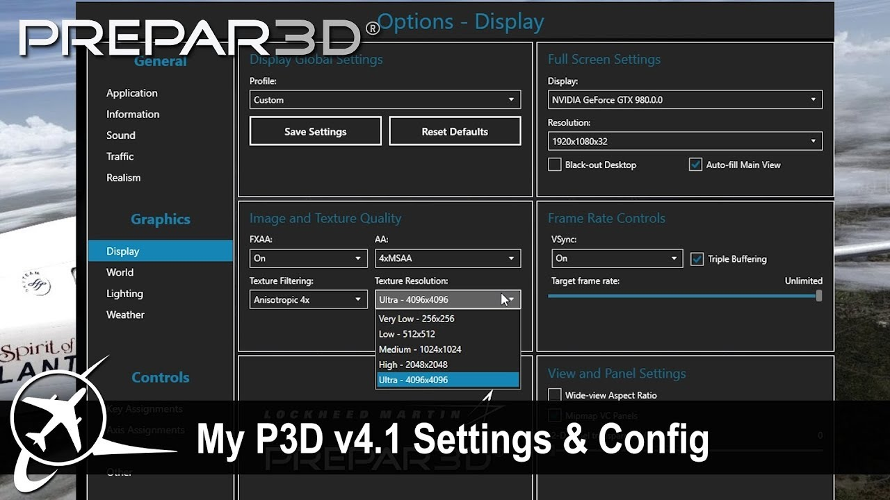 [P3D v4 2] My P3D CFG & Settings