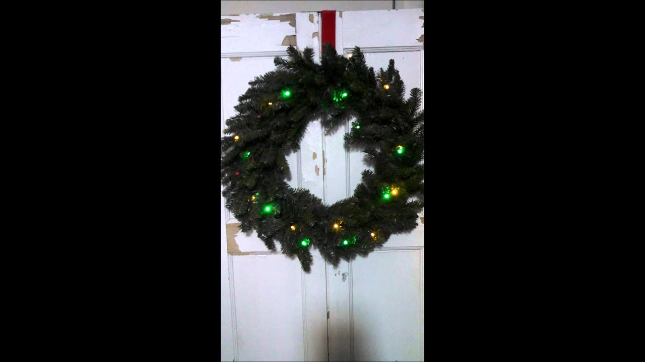 bethlehem lights 30 battery operated color wreath jolly christmas