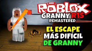 GRANNY'S MOST DIFFERENT ESCAPE! ROBLOX: GRANNY R15