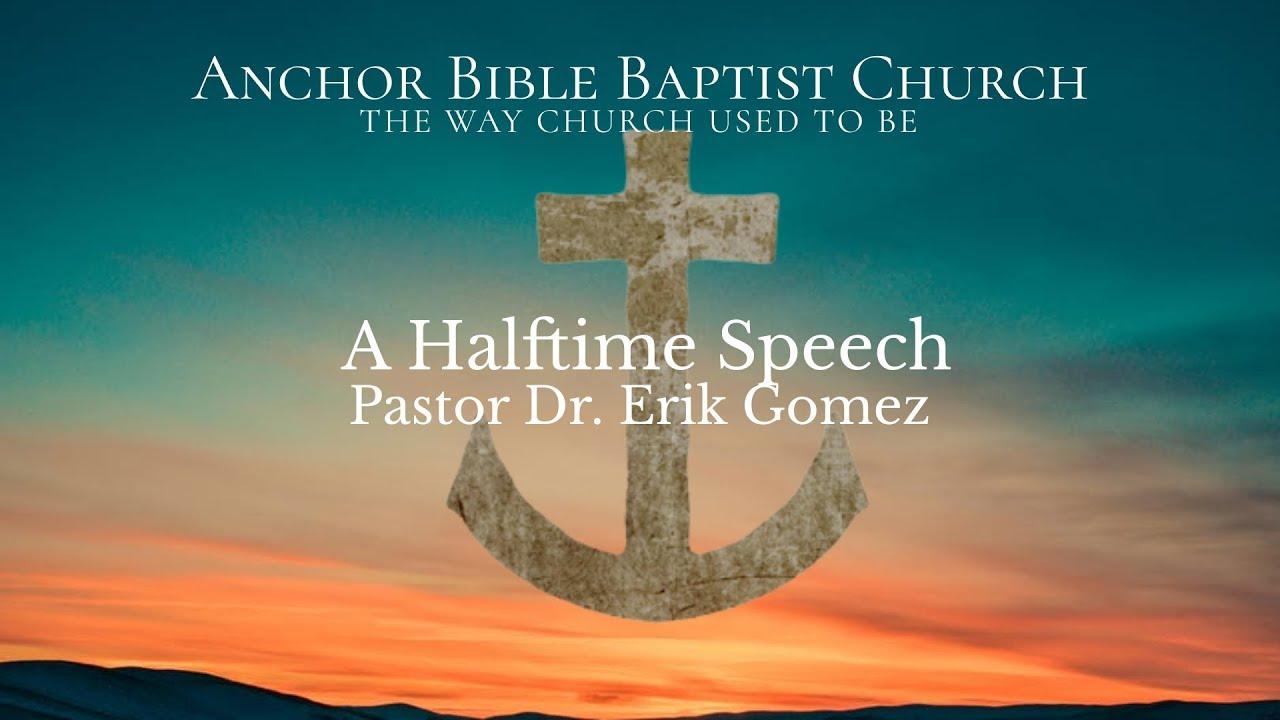 A Halftime Speech