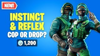 Fortnite INSTINCT & REFLEX Skins Worth It? ¿Policía o Gota?