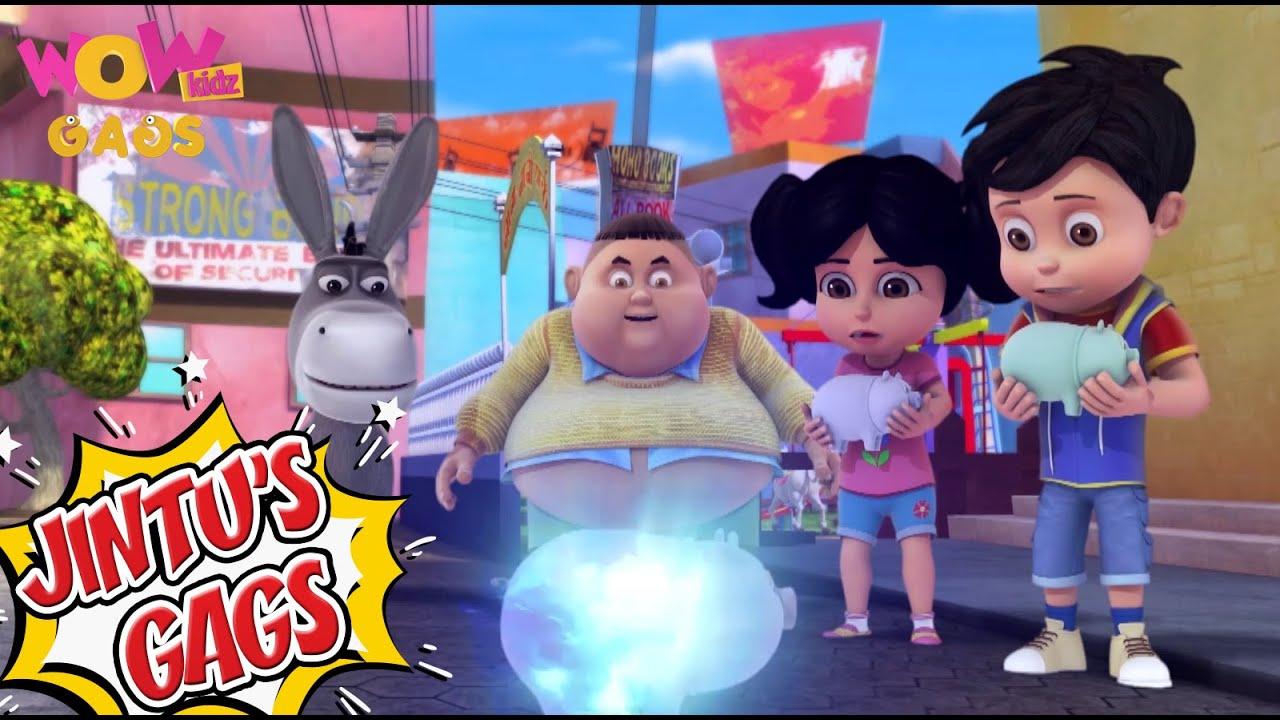 Vir The Robot Boy In Hindi | Jintu Gags 04| Cartoons for Kids | Wow Kidz Gags