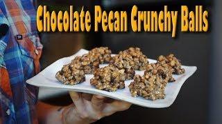 Chocolate Pecan Crunchy Balls: Organic Vegan Dessert Recipe