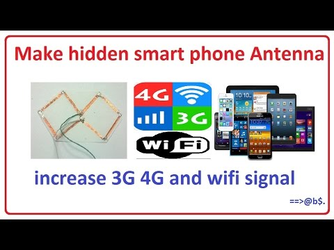 How to make hidden smart phone antenna for increase 3G 4G