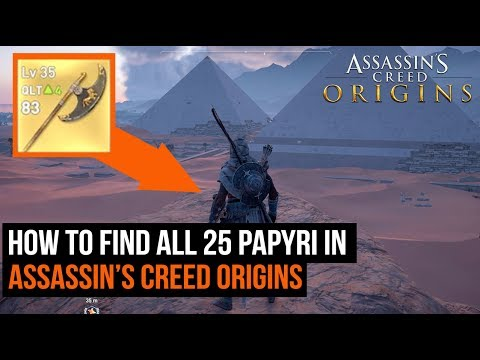 How To Find All 25 Papyri in Assassin's Creed Origins